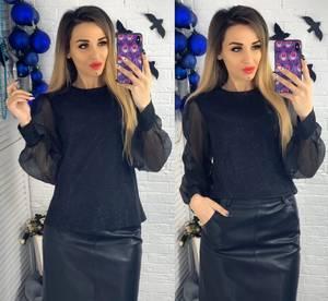 Блуза с длинным рукавом Ю1504