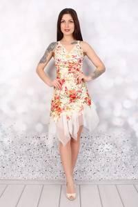 Платье короткое нарядное Ч3081