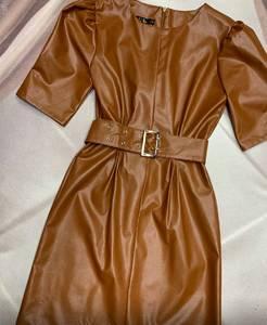 Платье короткое однотонное Ю3535