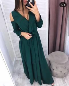 Платье длинное с разрезом на ноге Ч9885