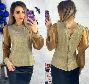 Блуза с длинным рукавом Ю1506
