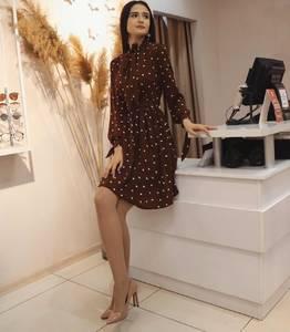 Платье короткое с длинным рукавом Ю3536