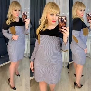 Платье короткое с длинным рукавом Ю6180
