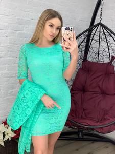 Платье Двойка короткое облегающее Я1010