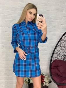 Платье короткое с рукавом 3/4 Я4159