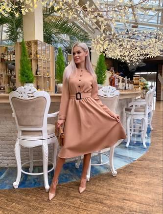 Платье короткое с длинным рукавом Ш4109