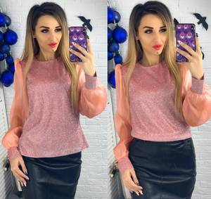 Блуза с длинным рукавом Ю1507