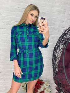 Платье короткое с рукавом 3/4 Я4160