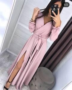 Платье длинное с разрезом на ноге Ч9887
