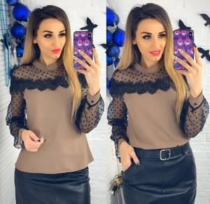 Блуза с длинным рукавом Ю1508