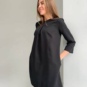 Платье короткое однотонное А25467
