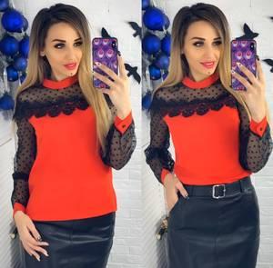 Блуза с длинным рукавом Ю1509