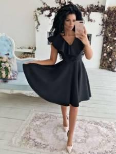 Платье короткое однотонное Ч8040