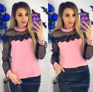 Блуза с длинным рукавом Ю1510