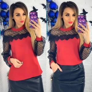 Блуза с длинным рукавом Ю1511