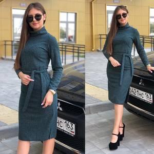 Платье короткое с длинным рукавом Ю3823