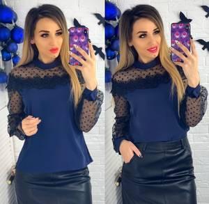 Блуза с длинным рукавом Ю1512