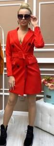 Платье короткое красное А09365