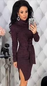 Платье короткое с длинным рукавом А09611