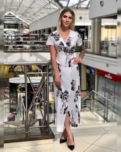 Платье длинное с принтом Ч2309