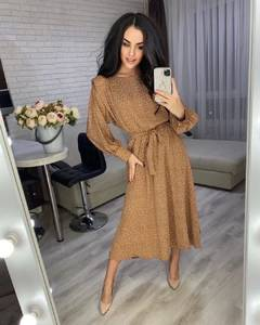 Платье короткое с длинным рукавом А48319