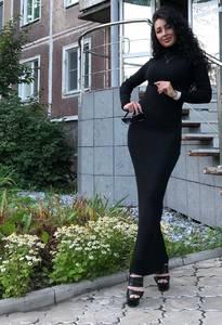Платье длинное с длинными рукавами Ч9843