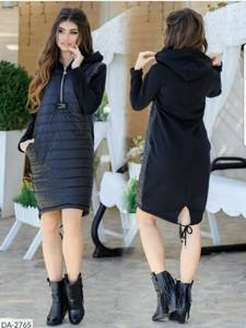 Платье короткое с длинным рукавом Ш9355