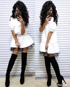 Платье короткое белое Ю2138
