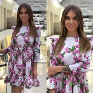 Платье короткое с принтом Ю5573