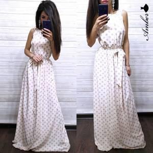 Платье длинное с открытыми плечами Ч0521