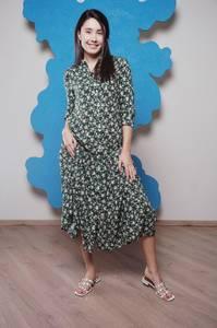 Платье длинное с принтом Ч1180