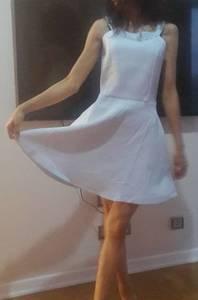 Платье короткое белое Ч1261