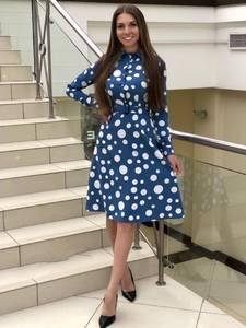 Платье короткое с длинным рукавом Я1403