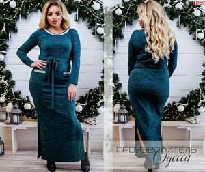 Платье длинное однотонное Я1814