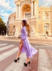 Платье длинное однотонное Я1913