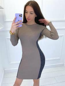 Платье короткое с длинным рукавом Я2830