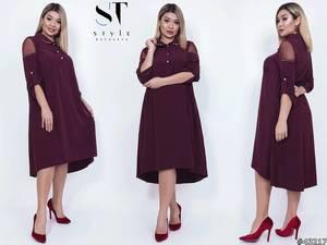 Платье короткое однотонное Я4008