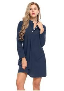 Платье короткое с длинным рукавом Я5690