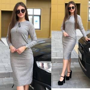 Платье короткое с длинным рукавом Ю3827