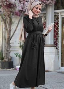 Платье длинное с длинными рукавами Я1014
