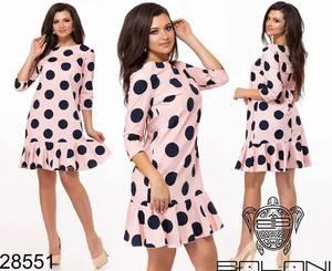 Платье короткое с принтом Ю5917
