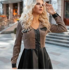 Платье короткое с длинным рукавом А34595