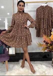 Платье короткое с длинным рукавом А34596