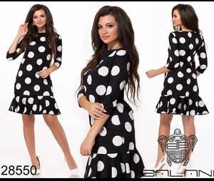 Платье короткое с принтом Ю5919