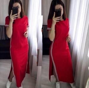 Платье длинное однотонное Ц7758