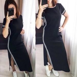 Платье длинное однотонное Ц7757