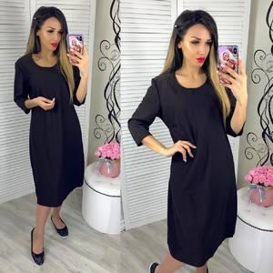 Платье короткое однотонное Я0684