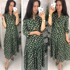 Платье длинное с принтом Ч9633