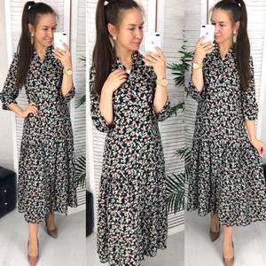 Платье длинное с принтом Ч9636