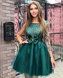 Платье короткое коктейльное Ч7300